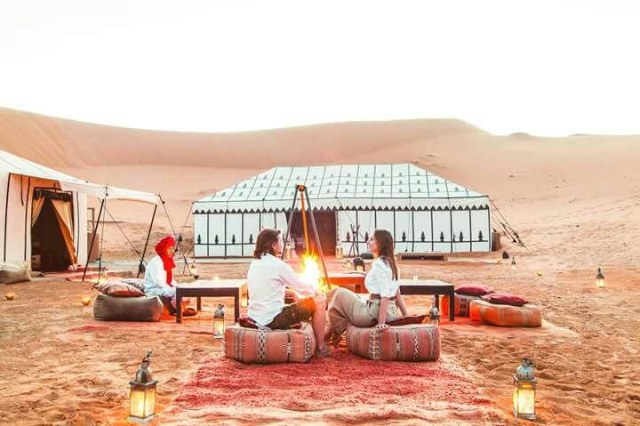 MARRAKECH – HIGH ATLAS – AIT BEN HADDOU KASBAH – OUARZAZATE– DADES VALLEY . TODRA GORGES – MERZOUGA – CAMEL TREK AND OVERNIGHT IN BERBER CAMP . Camel Ride back to Merzouga – Erg Chebbi Desert (Merzouga) – Ziz Valley – Midelt – Ifrane – Fes